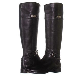 Coach Leather riding Boots w/ Silver Buckle 7
